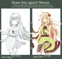 Draw This Again Meme by ChibiPaper