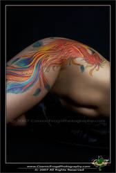 Phoenix Tattoo - Female Canvas by PaigeKay