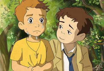 Destiel Ponyo Crossover by compoundbreadd