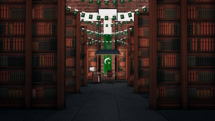 A patriotic library by MurtazaRizvi86