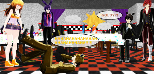 FNaF's: Goldy can't even by AikoFanFan