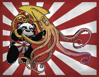 squid and panda by unclepatrick