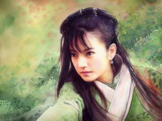 Zhao Wei Sword Girl by a-thammasak
