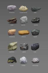 Rock studies by Gourmandhast