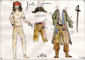 jack sparrow paper doll by beriquito