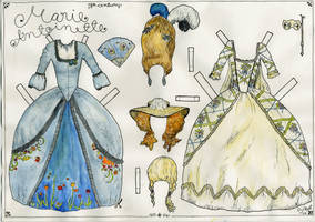 marie antoinette paper doll by beriquito