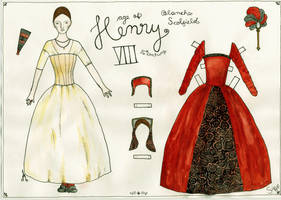 16th century paper doll by beriquito