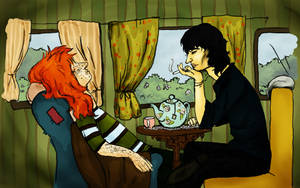 Terry and Clair having tea by beriquito
