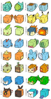 Pokemon Cubes +Concepts+ by CometTheMicroraptor