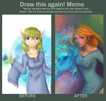 Draw this Again Meme Adelaine by MandarinOrange