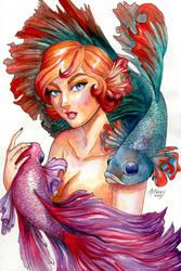 B for Betta Fish by Ataraxicare