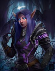 Shadow Priestess [Comm] by Ataraxicare