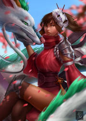 Spirit Dragon Warrior by Ataraxicare