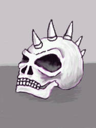 spikey skull by chaitanyak
