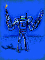 Blue suit by chaitanyak