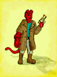 teen hellboy by chaitanyak