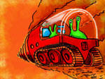 green driver in red tunneller by chaitanyak