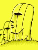 easter island heads by chaitanyak