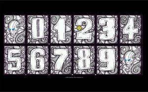 Engraved Toxic Head numbers 2 by chaitanyak