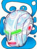crystal robot head by chaitanyak