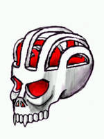 hollow skull by chaitanyak
