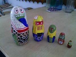 Russian Doll Mod - Robots by chaitanyak