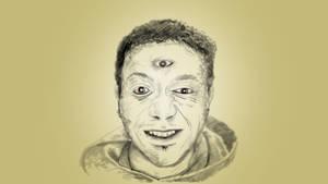 Self Portrait with 3rd eye by chaitanyak