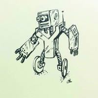 Robot on wheels by chaitanyak