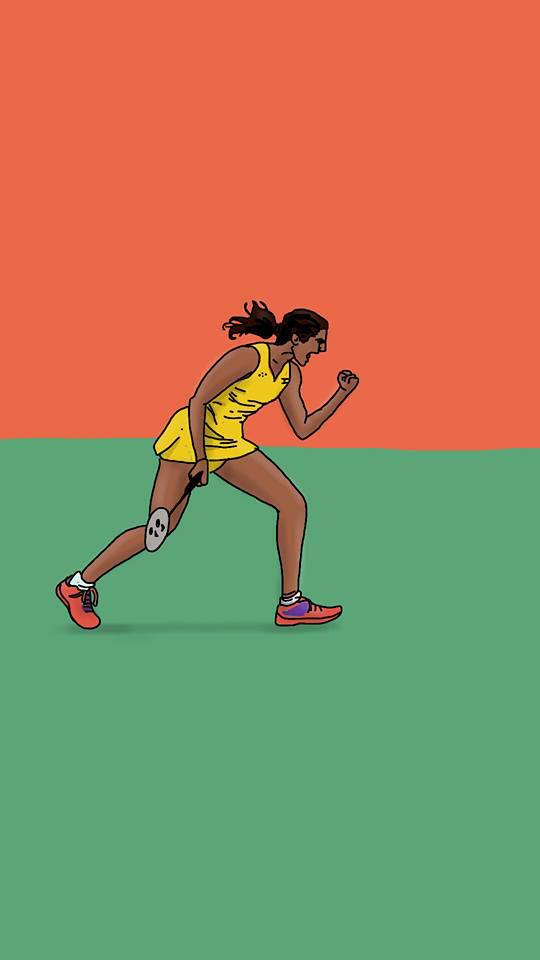 Olympics 2016 Sindhu by chaitanyak