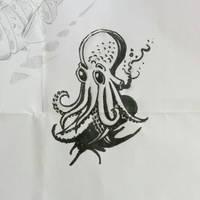 #inktober #octopus #ink by chaitanyak