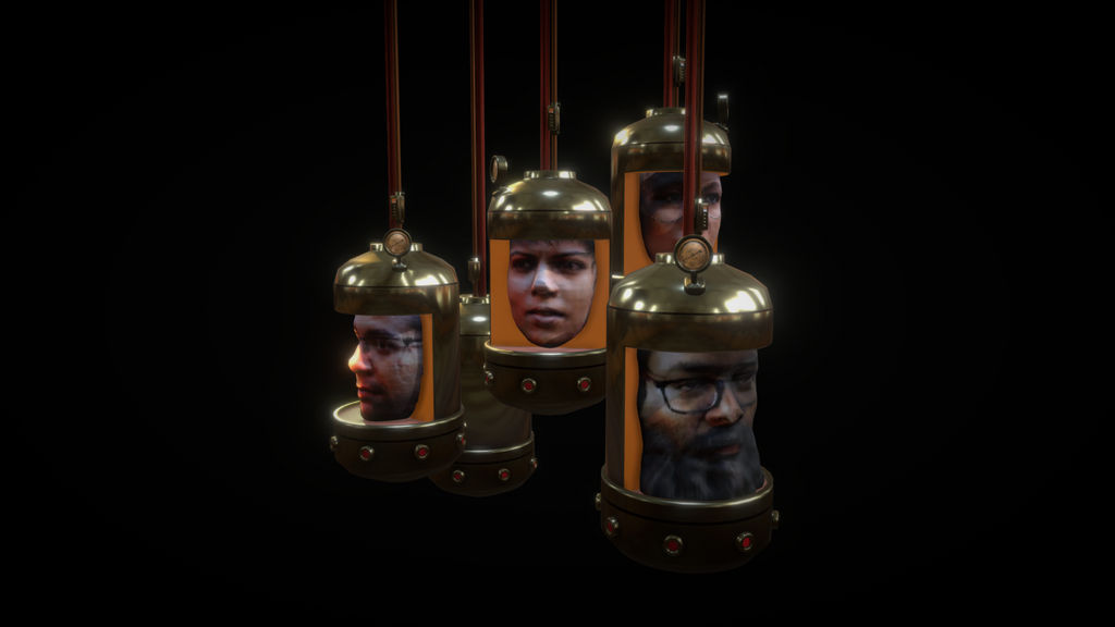 Steampunk Hall Of Faces (1) by chaitanyak