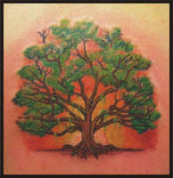 tree tattoo by zombiebe10u