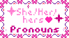 She/her/Hers Pronouns by SilenceTheFox