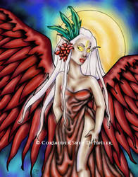 Crimson Wings by PhantomsRose