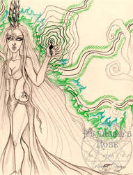 Enchanted By An Emerald Flame Sketch by PhantomsRose