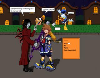 Alucard meets Sora by splaty