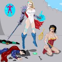 Corrupted Power-Girl vs JLA by splaty