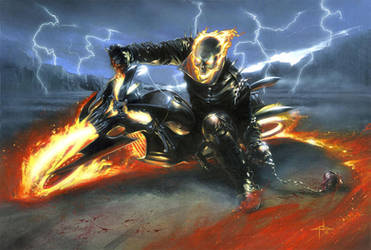 desktop ghost rider by atrafeathers