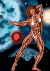 Redraw muscle of 80 by Luis3iguel