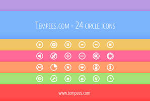 Circle icons (free download) by tempeescom