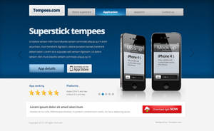 Free landing page template by tempeescom