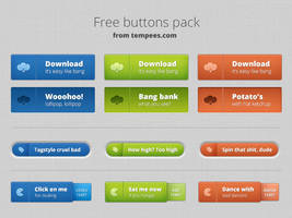 Free Buttons Pack for Download by tempeescom
