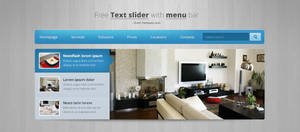 Free Text slider with menu and search by tempeescom