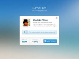 Free Name card PSD template by tempeescom