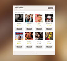 Free Movie Rent PSD Template by tempeescom