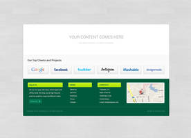 FREE Green Footer with logos area by tempeescom