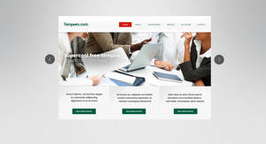 FREE Half website template by tempeescom