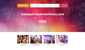 Party header website header free PSD download by tempeescom