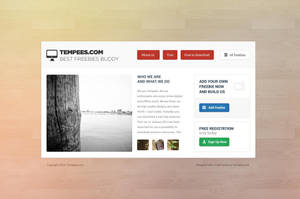 Landing page template free PSD download by tempeescom