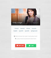 Profile block FREE PSD DOWNLOAD by tempeescom